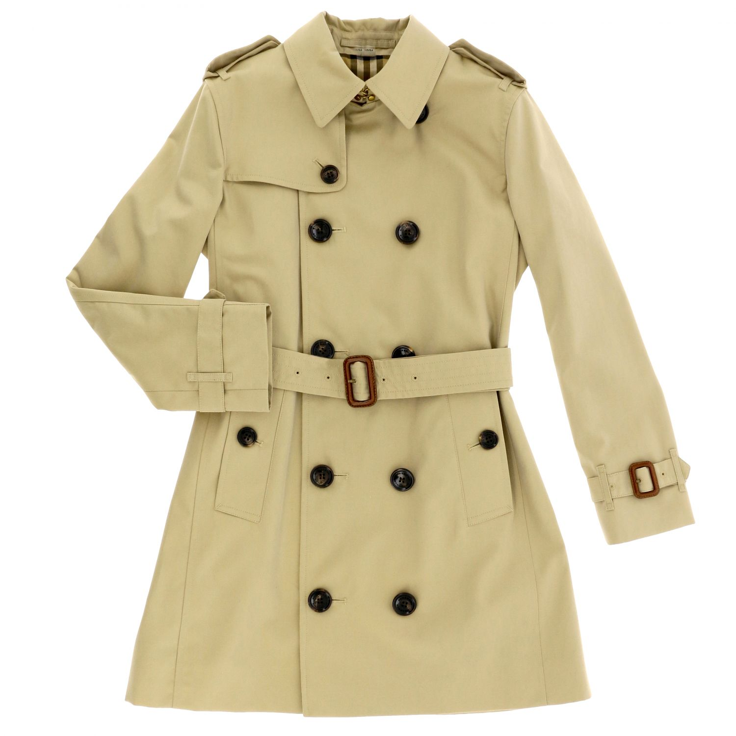 Burberry cotton gabardine trench coat beige 1