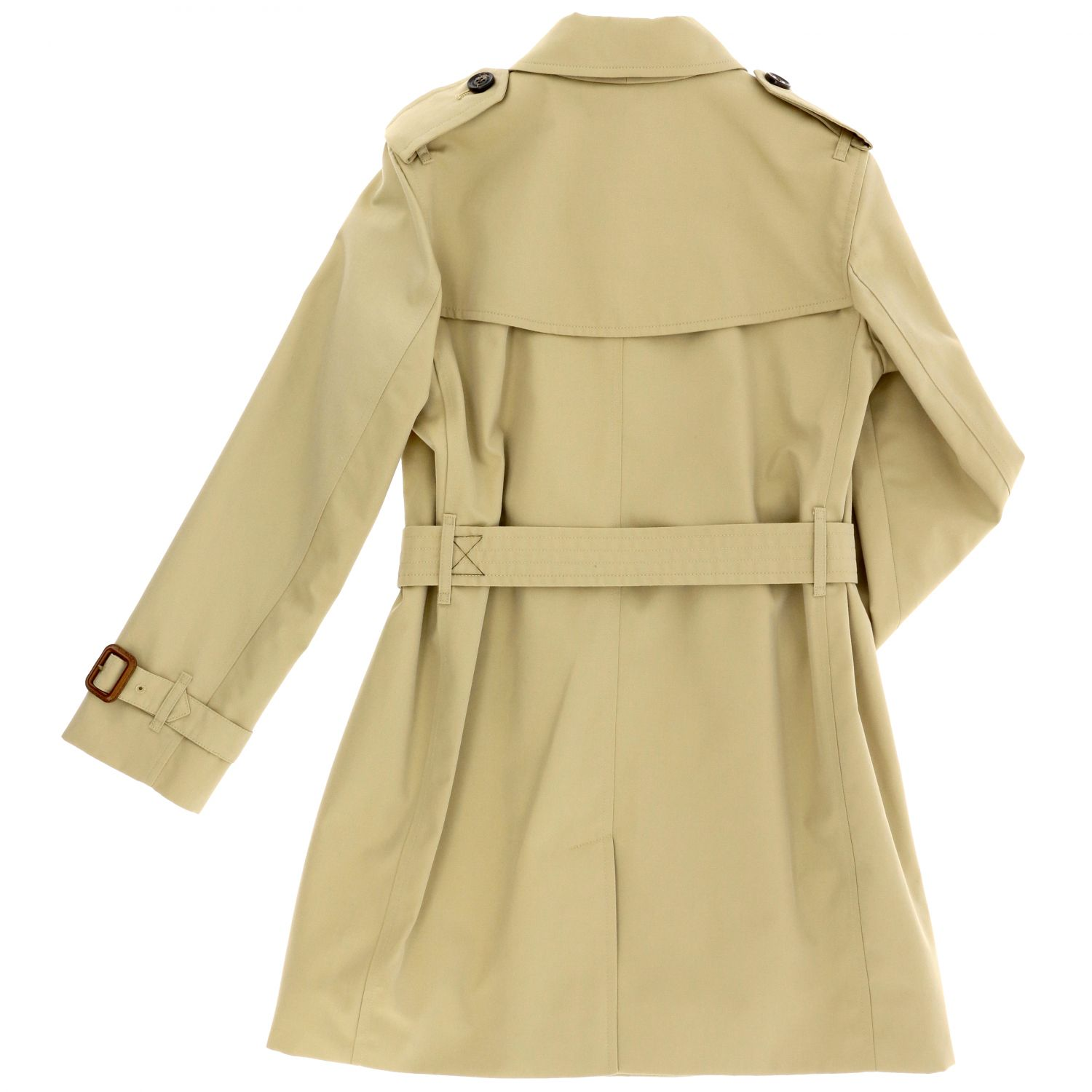 Burberry cotton gabardine trench coat beige 2