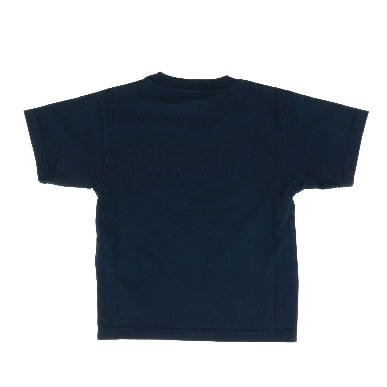 T-shirt Balenciaga: T-shirt Balenciaga a maniche corte con stampa logo blue 2