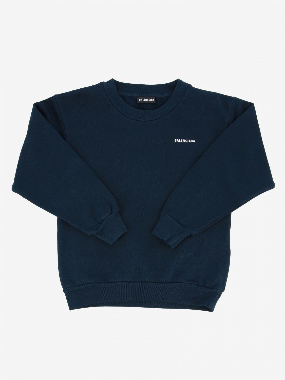 毛衣 Balenciaga: Balenciaga logo 圆领卫衣 蓝色 1