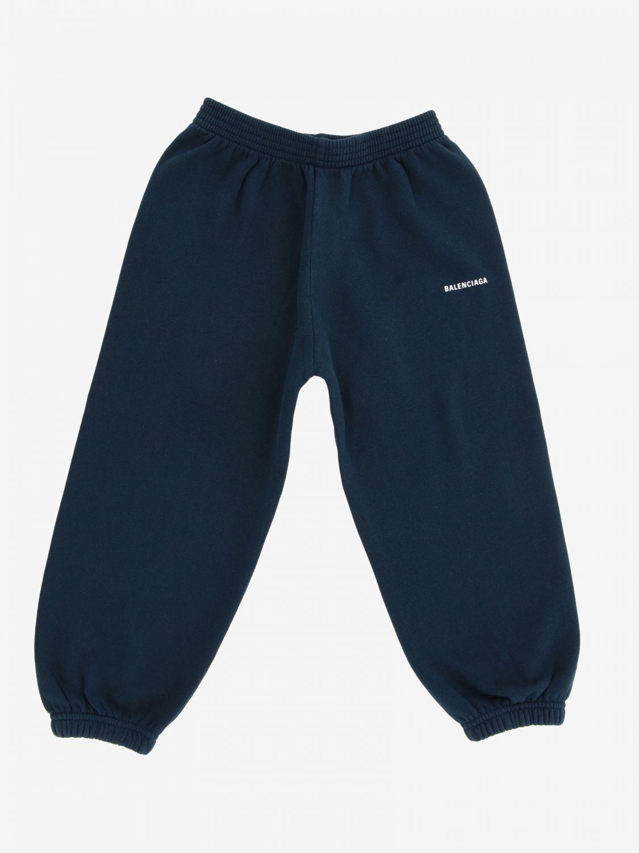 Pantalone Balenciaga: Pantalone jogging Balenciaga con logo blue 1
