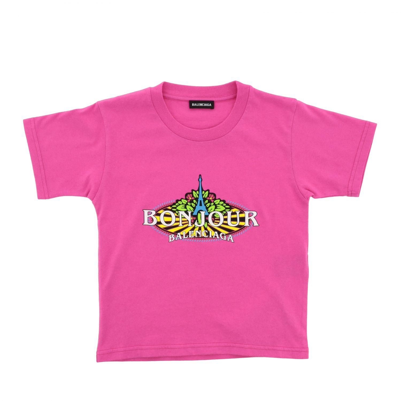 Футболка Детское Balenciaga розовый 1