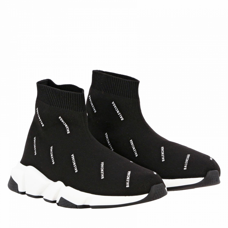 Scarpe Balenciaga: Sneakers Speed Balenciaga con logo all over nero 2
