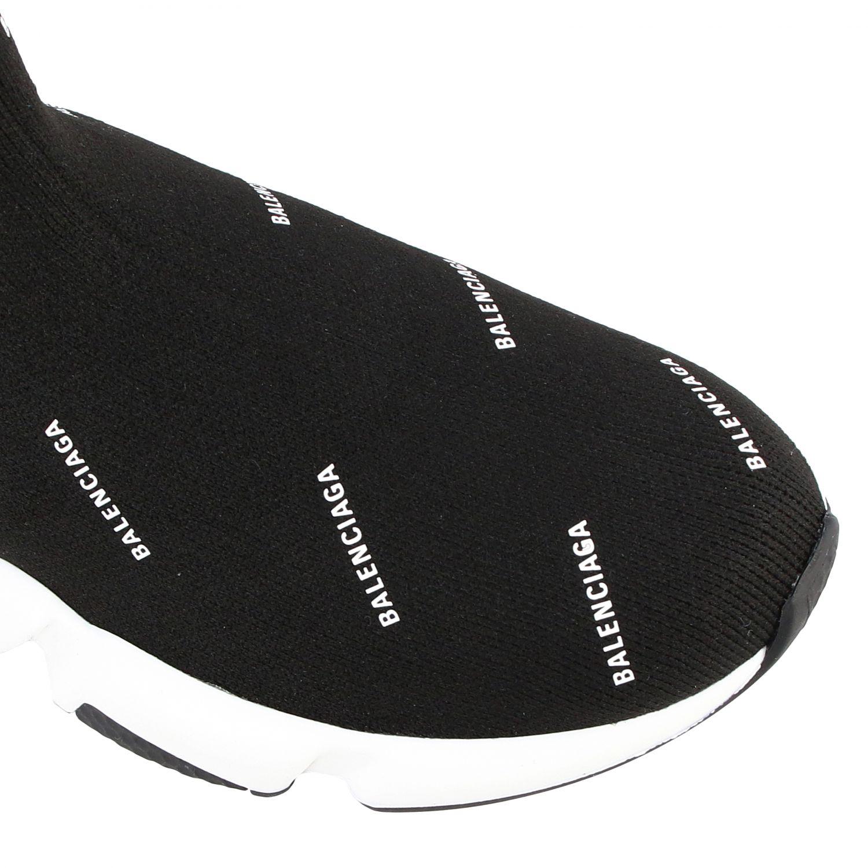 Scarpe Balenciaga: Sneakers Speed Balenciaga con logo all over nero 4