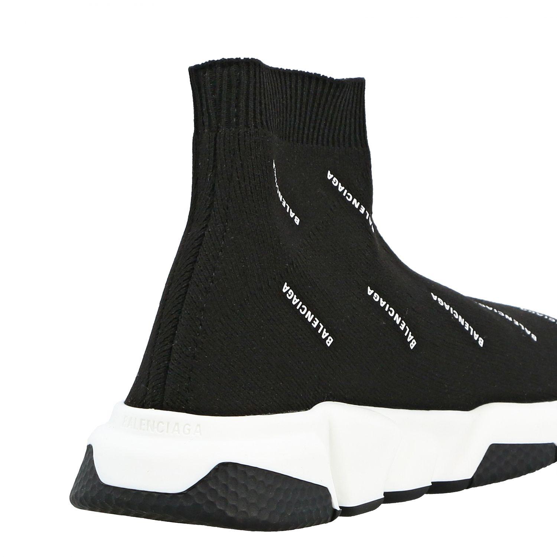 Scarpe Balenciaga: Sneakers Speed Balenciaga con logo all over nero 5