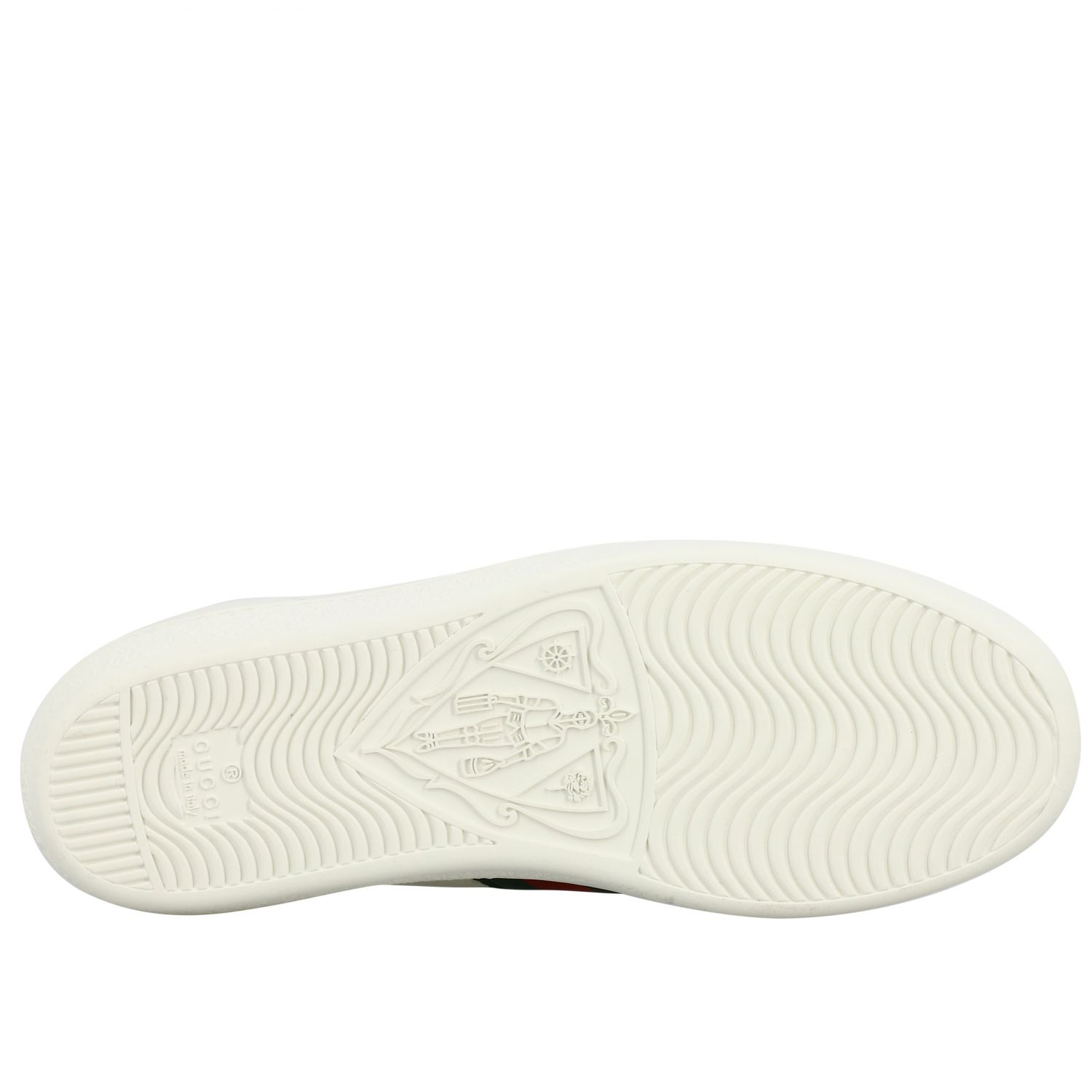 Sneakers New Ace Gucci in pelle con fasce Web bianco 6