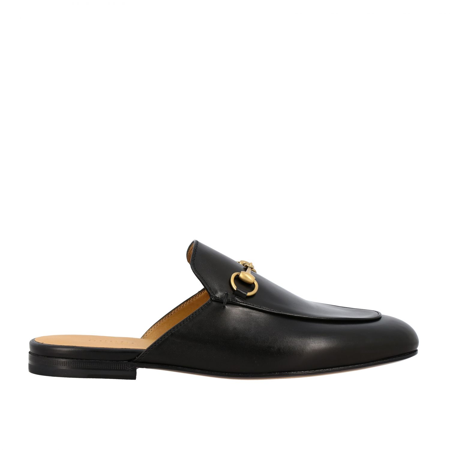 Loafers Gucci: Gucci Princetown leather slipper with horsebit black 1