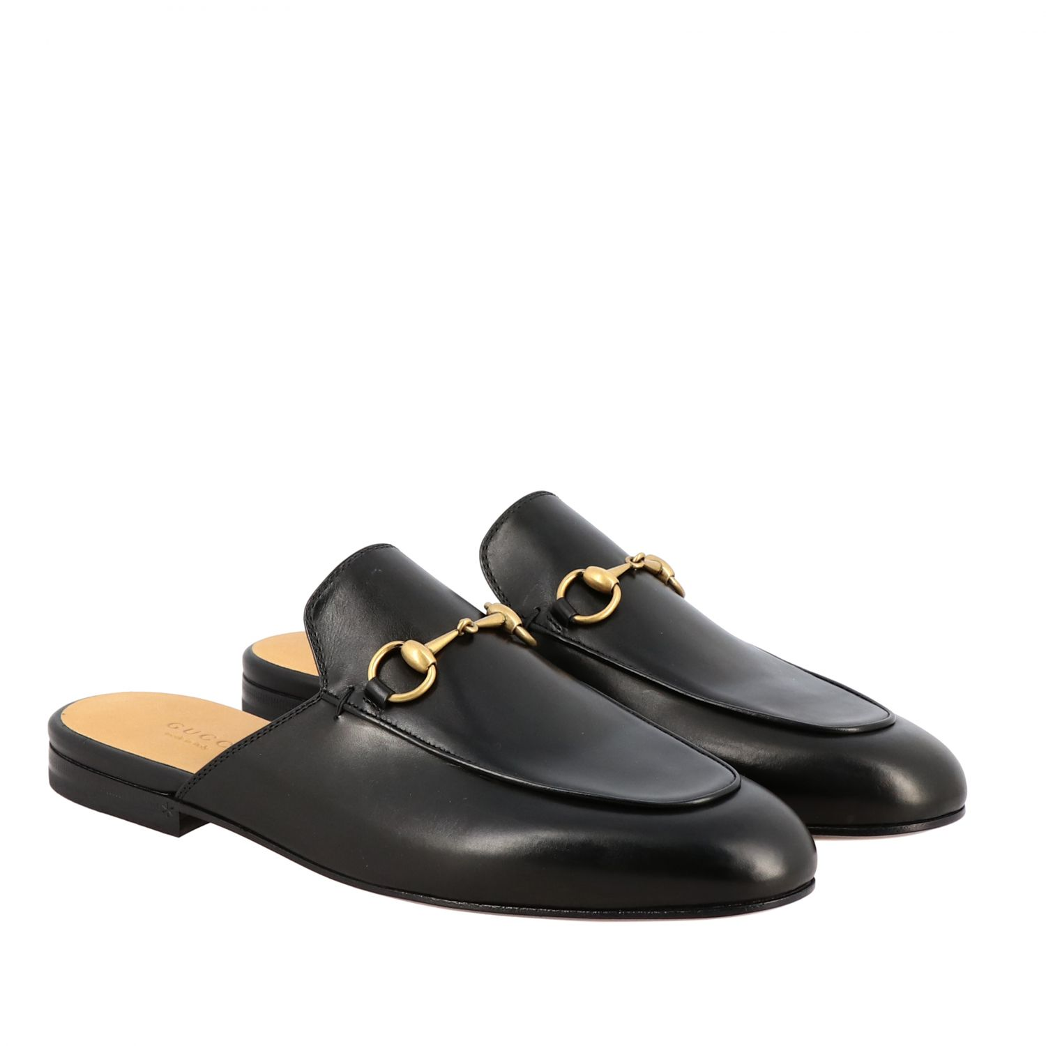 Loafers Gucci: Gucci Princetown leather slipper with horsebit black 2