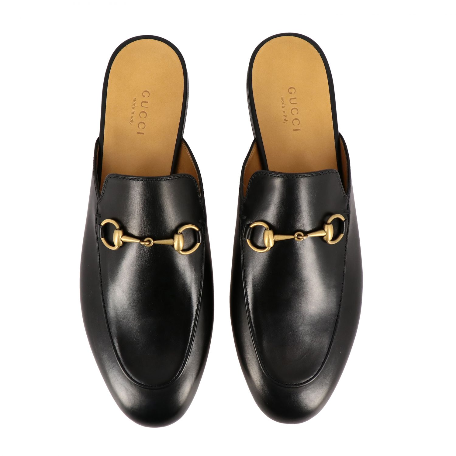 Loafers Gucci: Gucci Princetown leather slipper with horsebit black 3