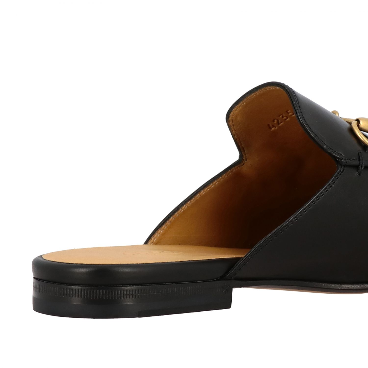 Loafers Gucci: Gucci Princetown leather slipper with horsebit black 5