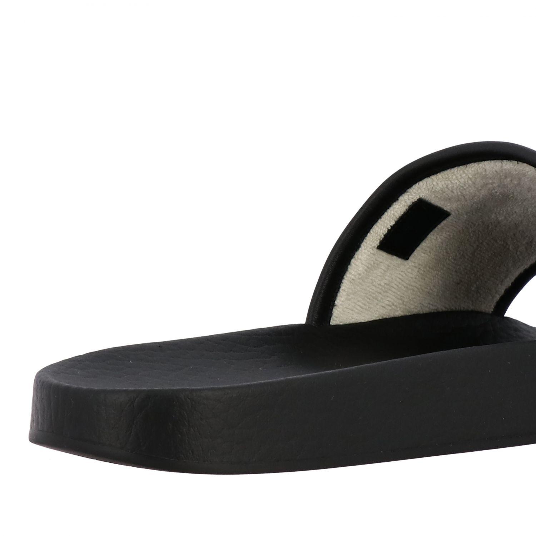 Sandalo Pursuit Gucci in nylon con logo worldwide ricamato nero 5