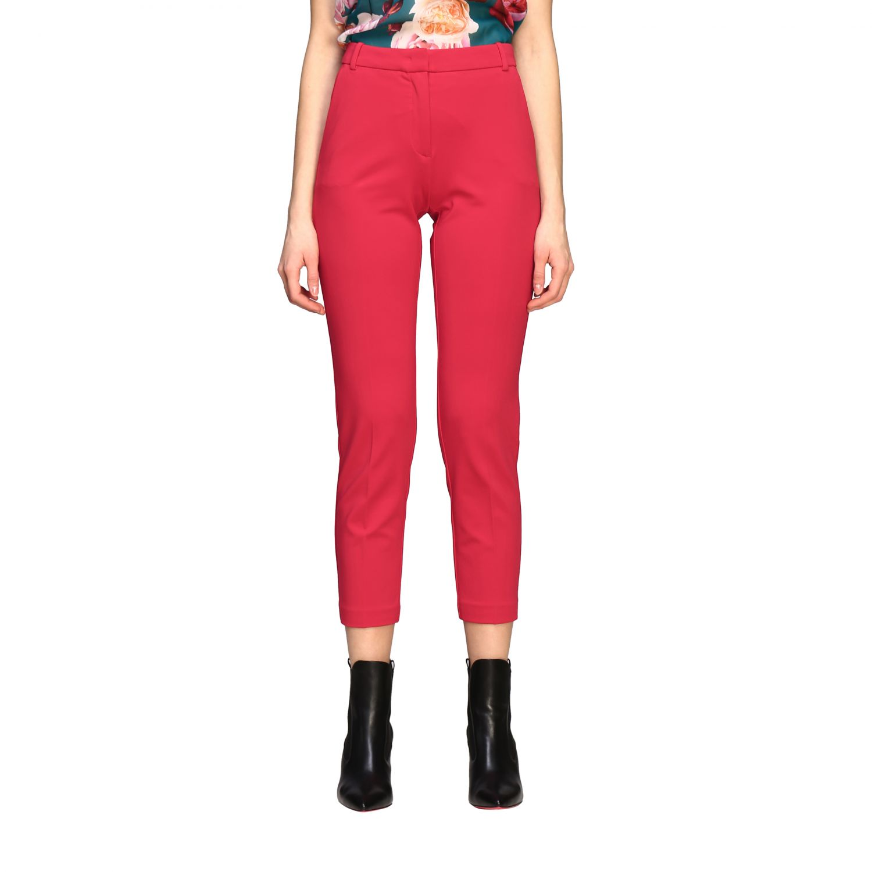 Bello 83 Pinko trousers in slim stitch red 1