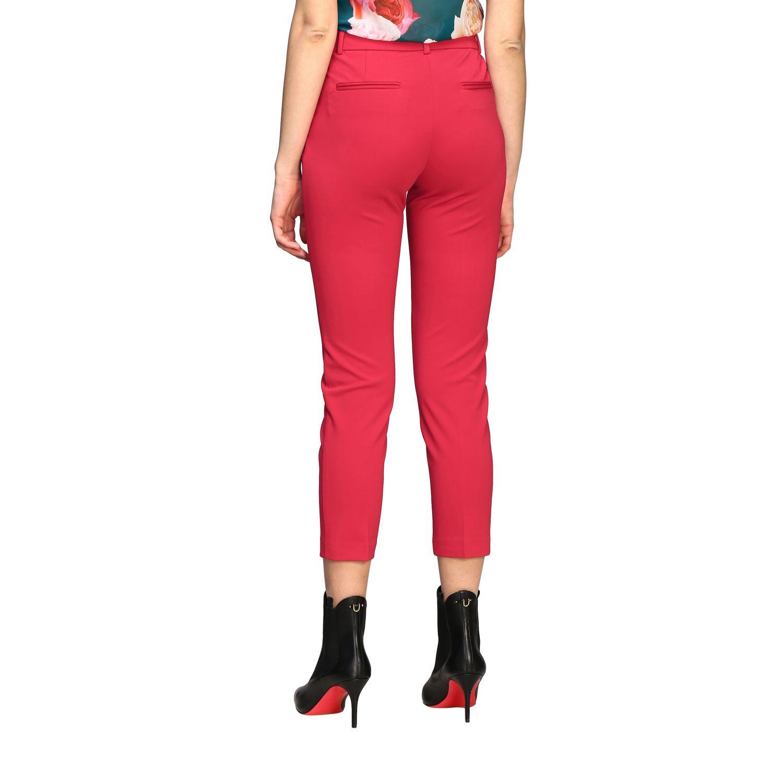 Bello 83 Pinko trousers in slim stitch red 3