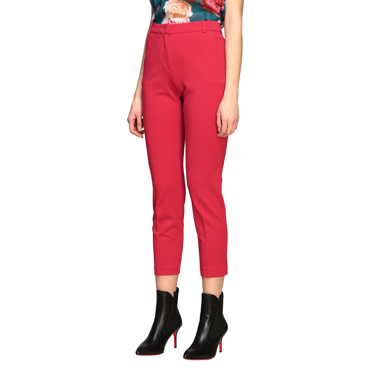 Bello 83 Pinko trousers in slim stitch red 4