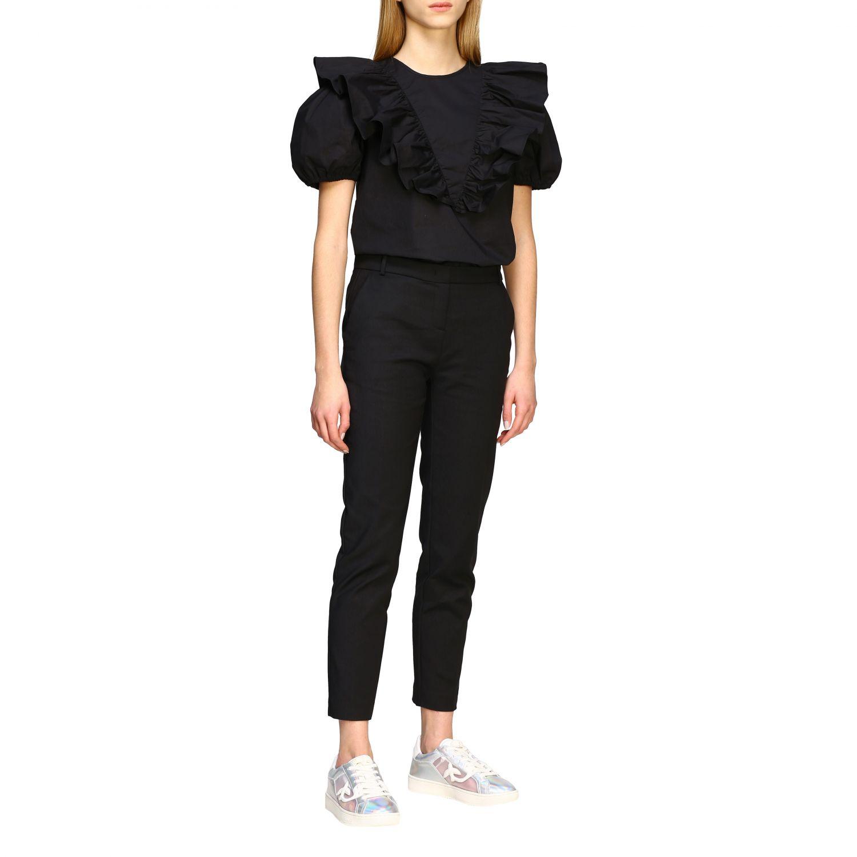 Bello 84 Pinko trousers in stretch technical fabric black 2