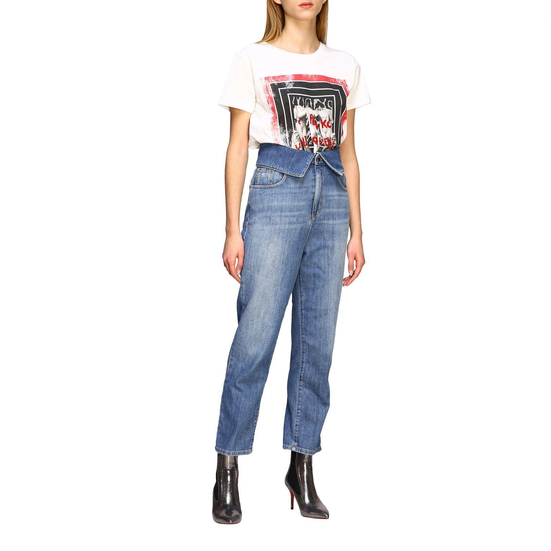 Jeans Tara Pinko a vita alta denim 2