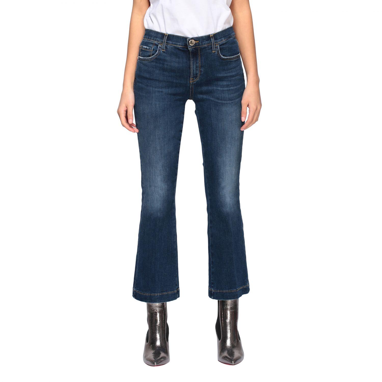 Jeans Fannie 7 Pinko a trombetta con vita alta blue 1