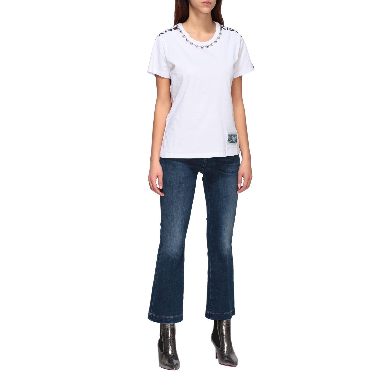 Jeans Fannie 7 Pinko a trombetta con vita alta blue 2