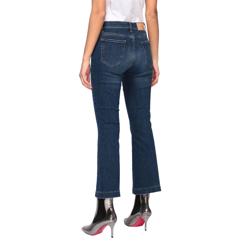 Jeans Fannie 7 Pinko a trombetta con vita alta blue 3