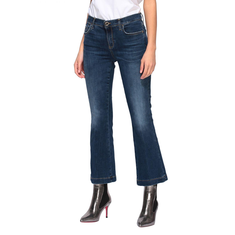 Jeans Fannie 7 Pinko a trombetta con vita alta blue 4