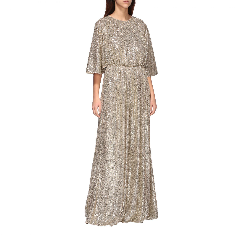 Платье с блестками Женское Pinko золотой 1