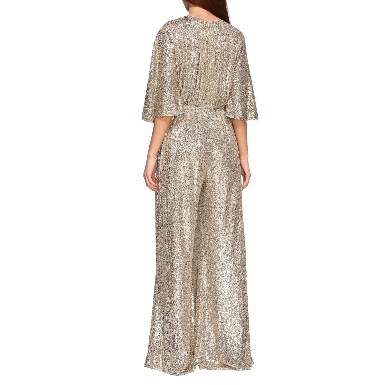 Платье с блестками Женское Pinko золотой 2