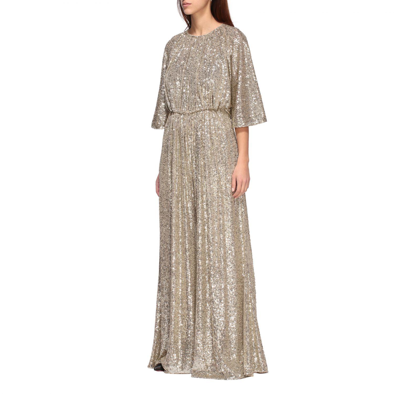 Платье с блестками Женское Pinko золотой 3