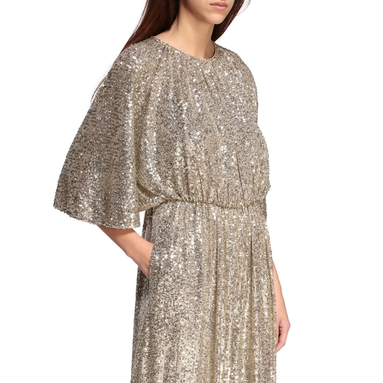 Платье с блестками Женское Pinko золотой 4