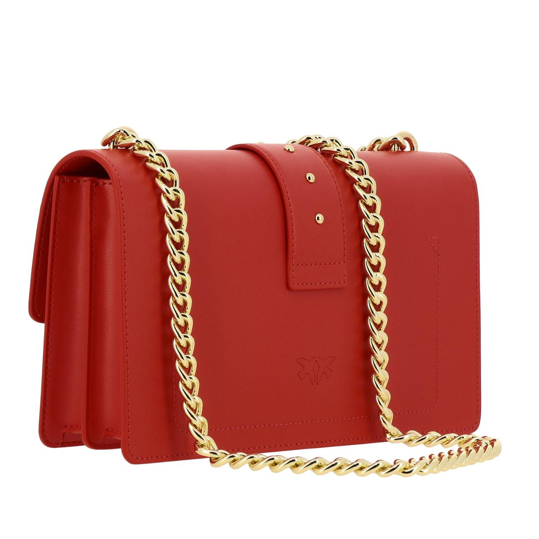 Borsa Love classic simply Pinko in pelle rosso 3