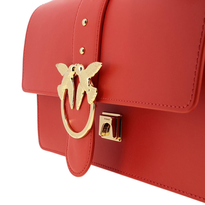 Borsa Love classic simply Pinko in pelle rosso 4