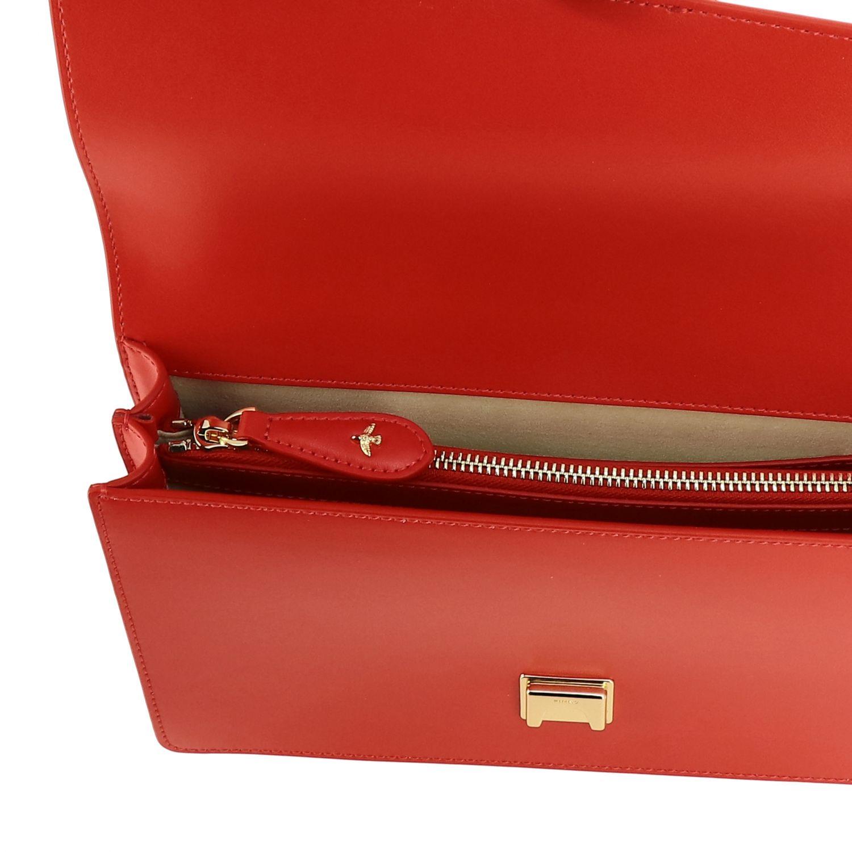 Borsa Love classic simply Pinko in pelle rosso 5