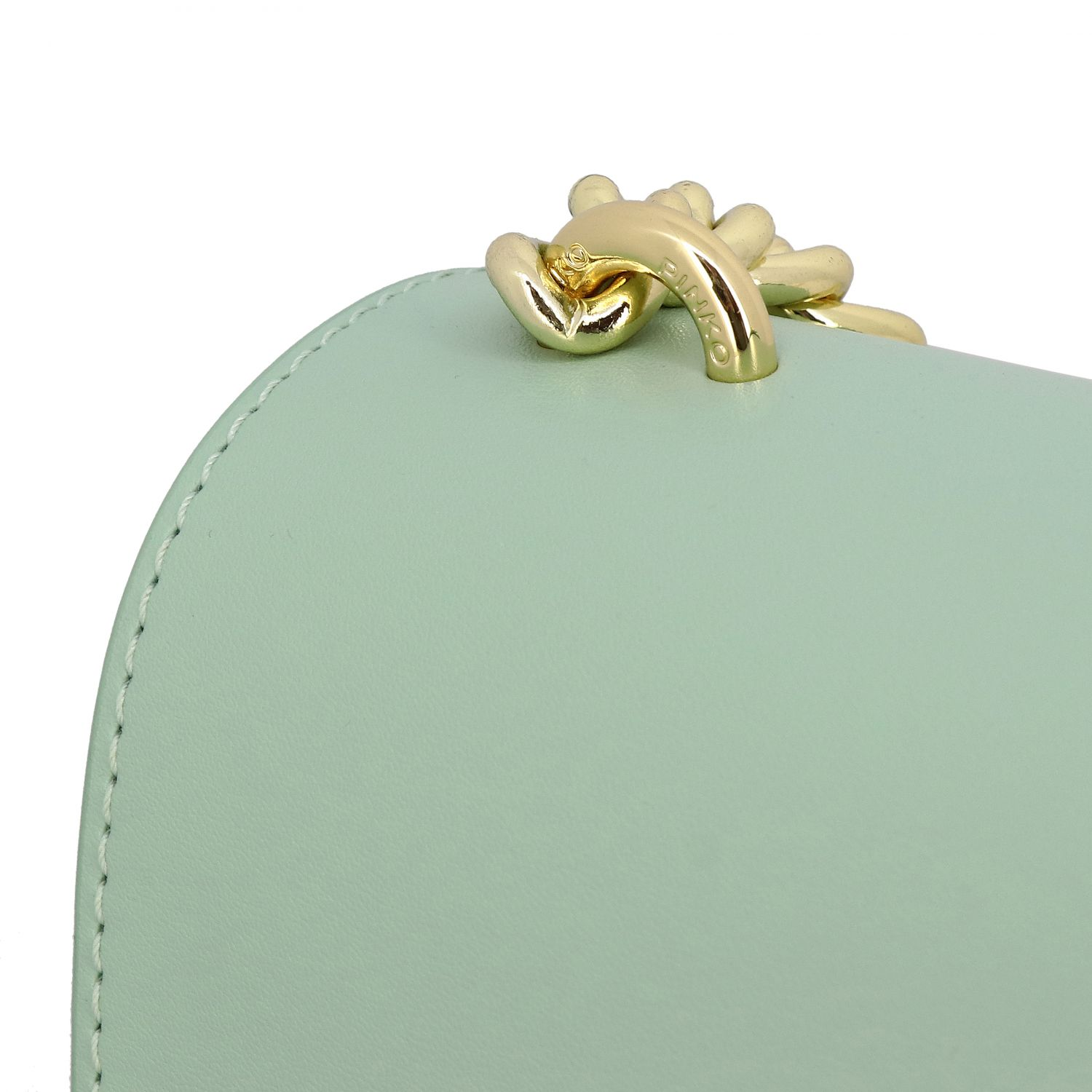 Borsa Love classic simply Pinko in pelle acqua 4
