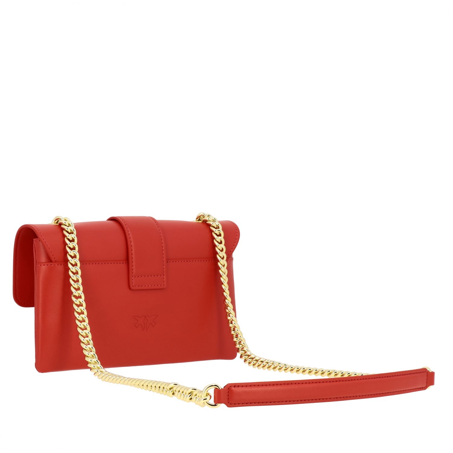 Pinko Love mini soft simply leather bag red 3