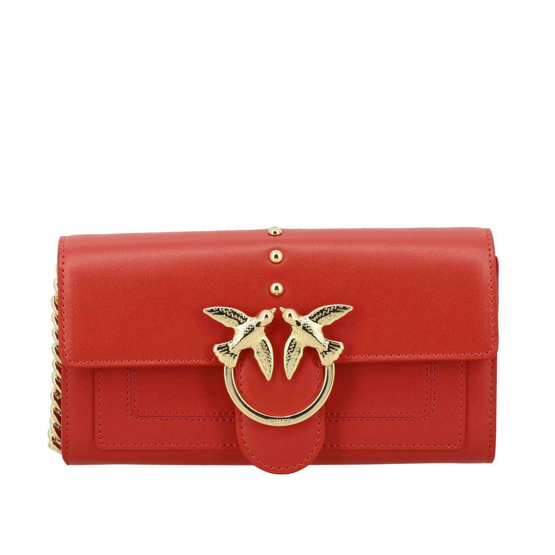 Borsa Love wallet simply Pinko in pelle rosso 1