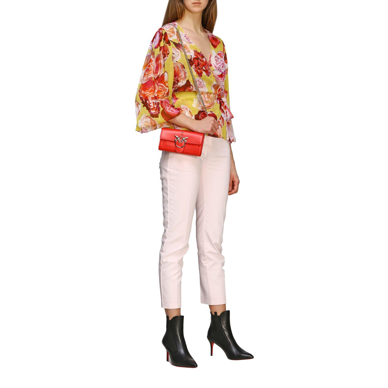 Borsa Love wallet simply Pinko in pelle rosso 2