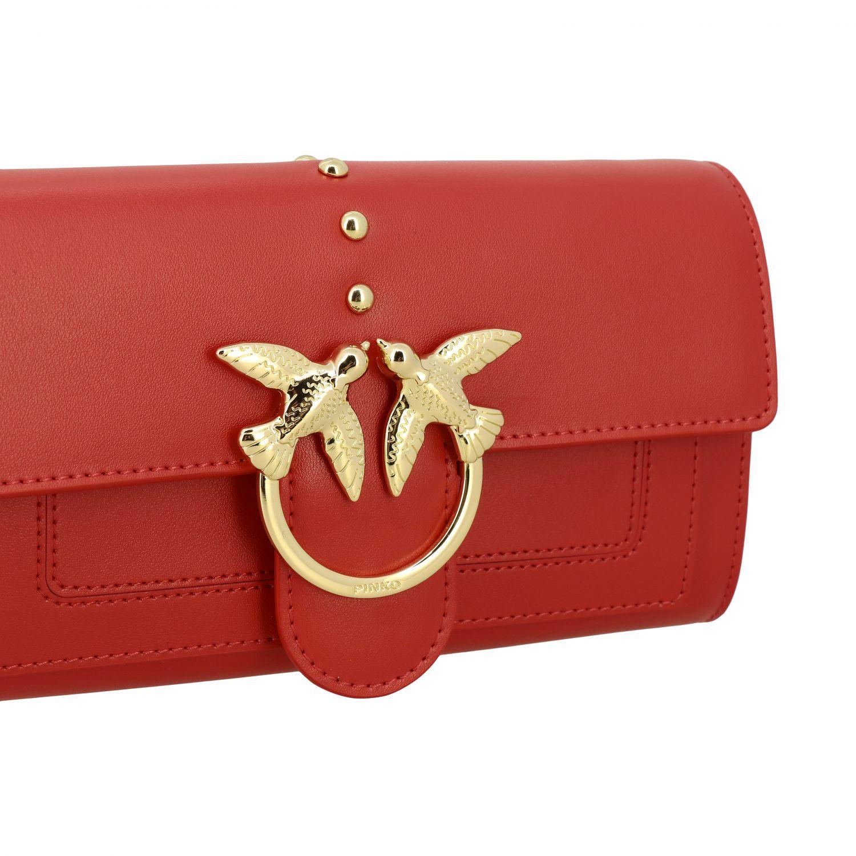Borsa Love wallet simply Pinko in pelle rosso 4