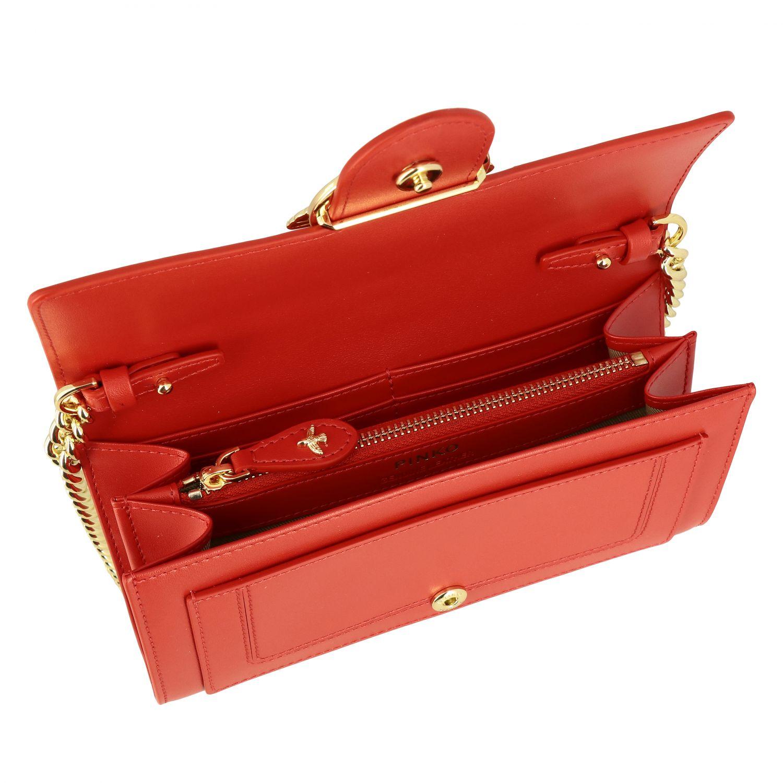 Borsa Love wallet simply Pinko in pelle rosso 5