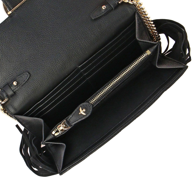 Borsa Love wallet fringes Pinko in pelle trapuntata nero 5