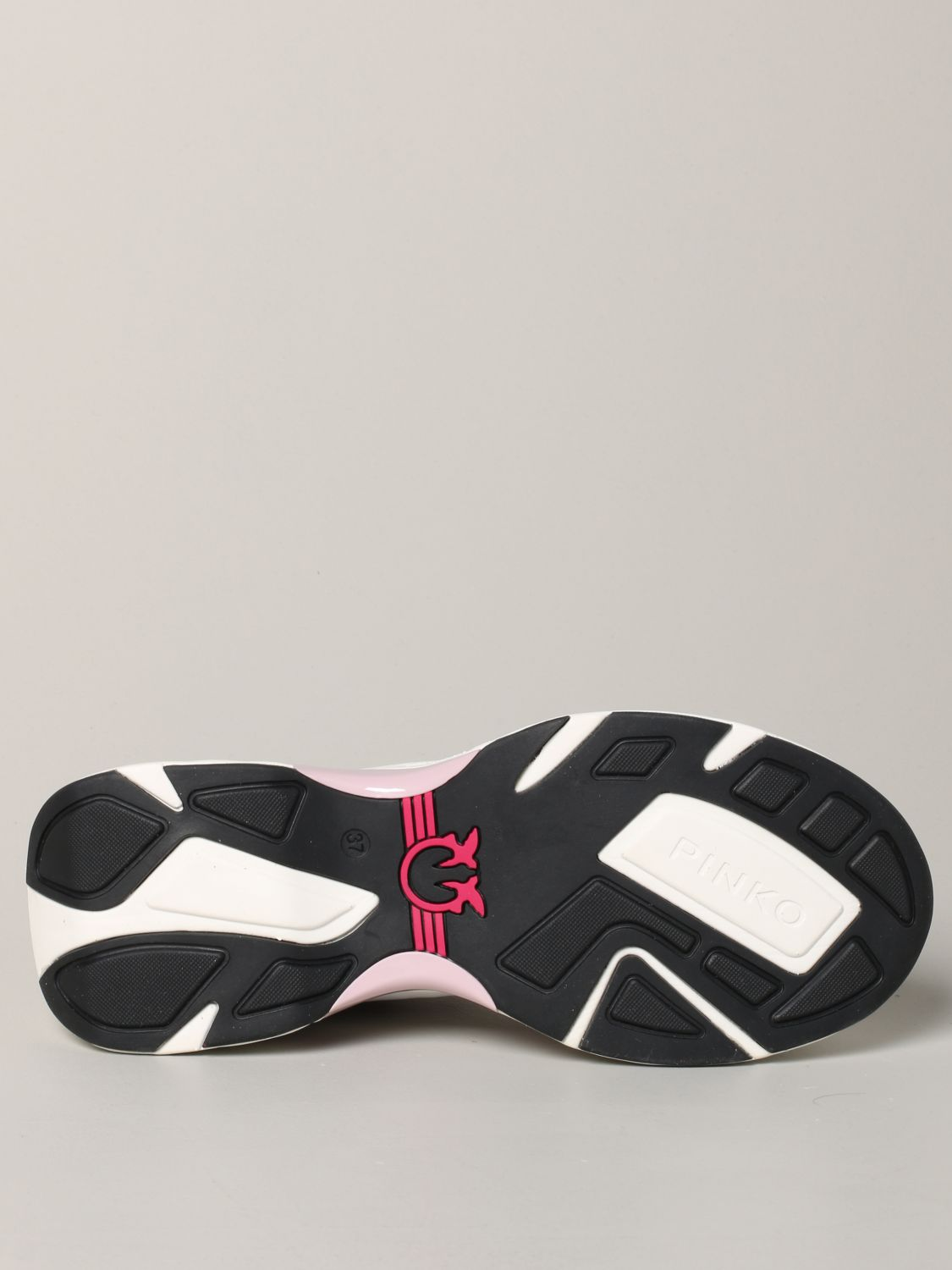 Pinko Marjoram sneakers in suede leather and mesh pink 6