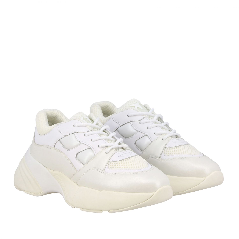 Sneakers Rubino 2 Pinko in pelle e rete imbottita bianco 2