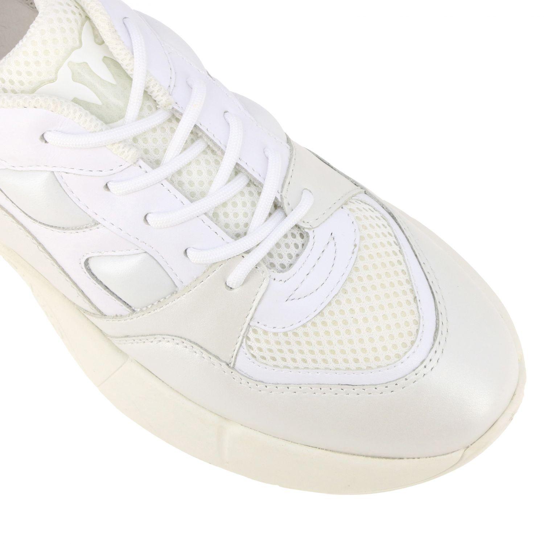 Sneakers Rubino 2 Pinko in pelle e rete imbottita bianco 4