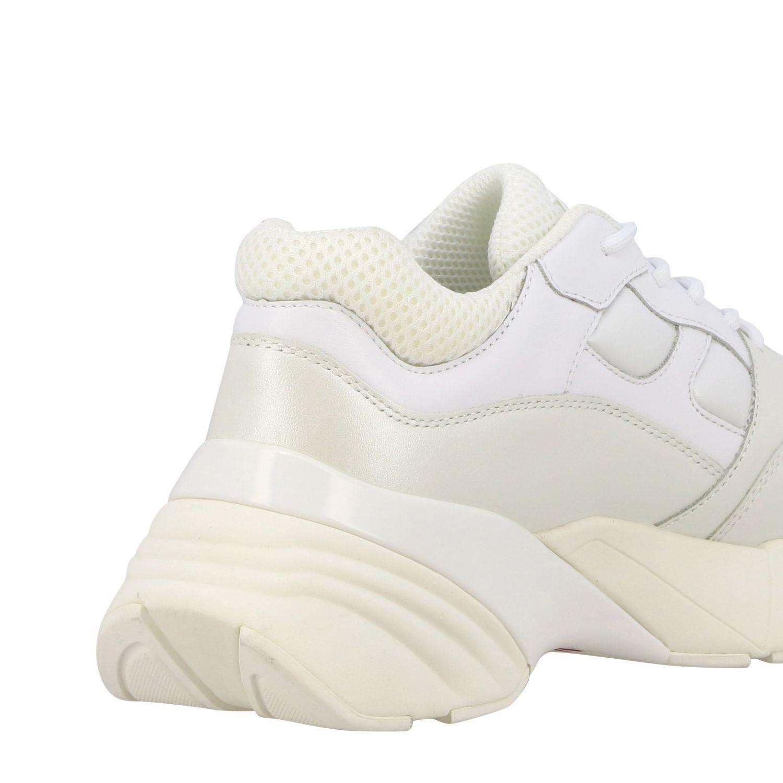 Sneakers Rubino 2 Pinko in pelle e rete imbottita bianco 5