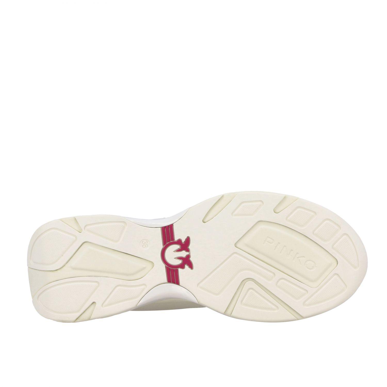 Sneakers Rubino 2 Pinko in pelle e rete imbottita bianco 6