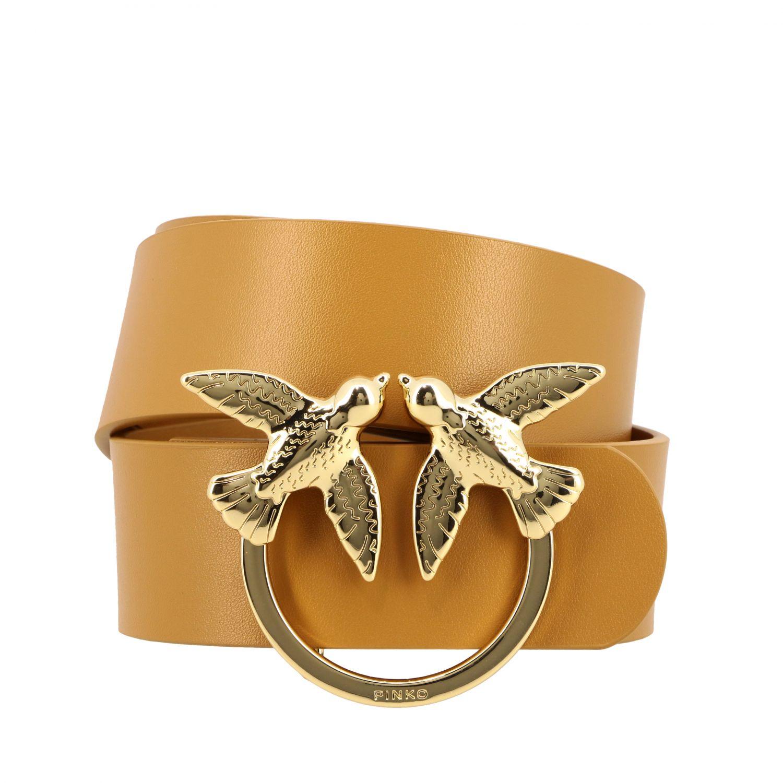 Cintura Berry simply Pinko in pelle con anello metallico cuoio 1