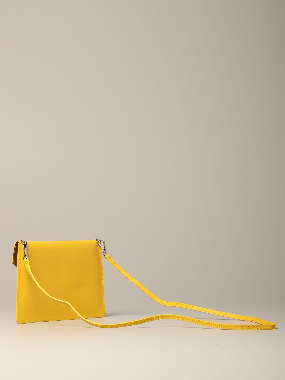 Lancaster Paris envelope pouch in leather yellow 2