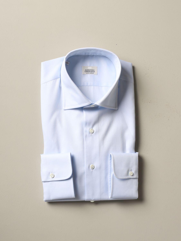 Рубашка Alessandro Gherardi: Рубашка Мужское Alessandro Gherardi небесно-голубой 1