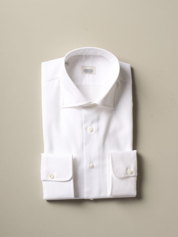 Рубашка Alessandro Gherardi: Рубашка Мужское Alessandro Gherardi белый 1