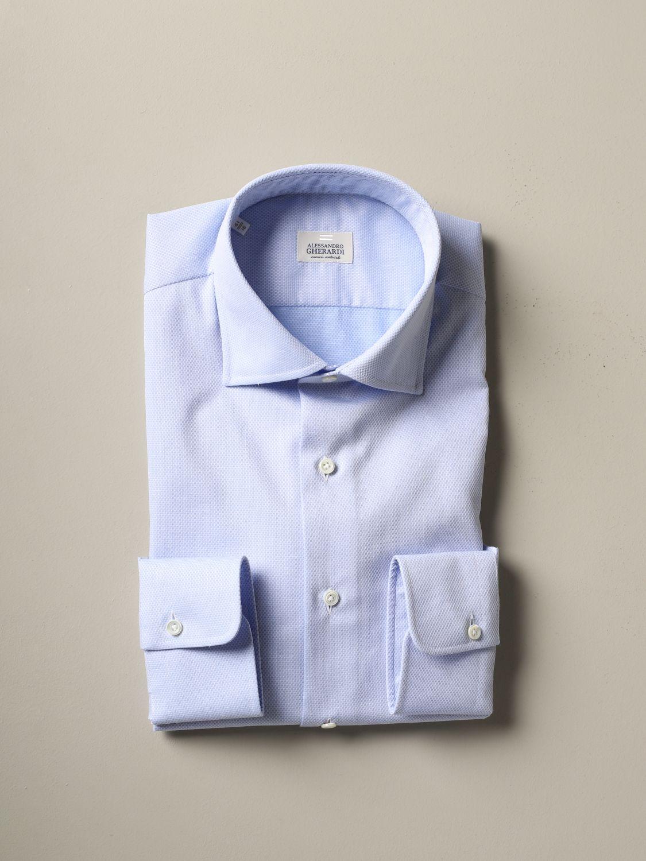 Shirt Alessandro Gherardi: Alessandro Gherardi regular fit shirt sky blue 1