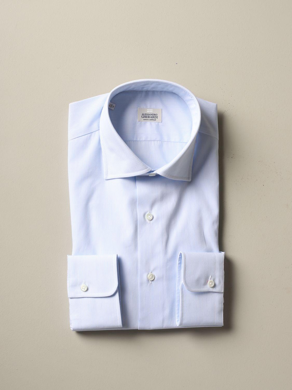 Shirt Alessandro Gherardi: Shirt men Alessandro Gherardi sky blue 1