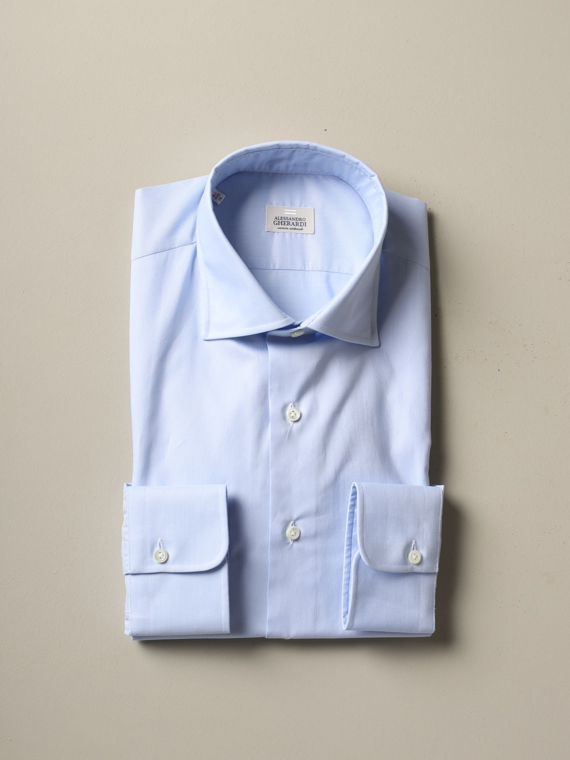Shirt Alessandro Gherardi: Alessandro Gherardi regular fit shirt sky blue 1